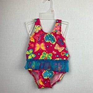 Fisher-Price Butterflies 1Pc Swimsuit 12/18/24 Mo